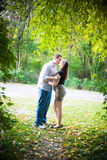 Beijo secreto Fotos de Stock Royalty Free
