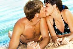 Beijo tropical Fotos de Stock