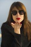 Beijo vermelho Fotos de Stock