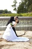 Beijo Wedding Fotografia de Stock Royalty Free