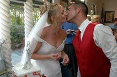 Beijo Wedding fotografia de stock