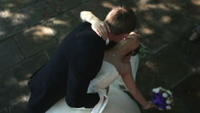 Beijo Wedding O noivo beija a noiva filme