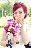 Beijos da noiva imagens de stock royalty free