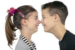 Beijos do nariz Imagens de Stock