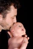 Beijos do pai Imagem de Stock Royalty Free