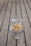 Beijos do ` s da senhora - cookies italianas do sanduíche da avelã Imagens de Stock