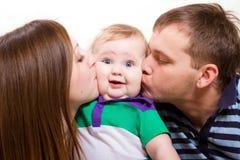 Beijos doces Fotografia de Stock