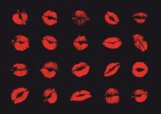 Beijos no preto ilustração stock