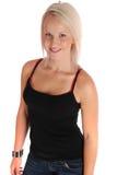Beiläufige überzeugte blonde Frau Lizenzfreies Stockfoto