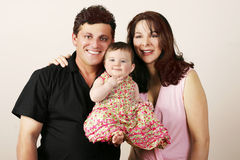 Beiläufige Familie stockbild