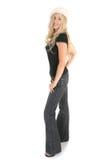 Beiläufige Frau in den Jeans Lizenzfreies Stockfoto