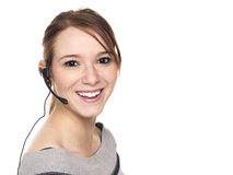 Beiläufige Frau - Empfangsdame Lizenzfreies Stockbild