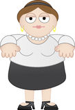 Beiläufige Geschäftsfrau Chubby Stockbilder