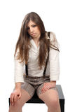 Beiläufige junge Frau stockbild