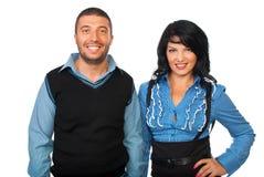 Beiläufige lächelnde Geschäftsleute Lizenzfreies Stockfoto