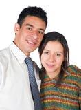 Beiläufige Paare über Weiß Stockfotos
