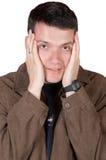 Beiläufiger Kerl unter Druck Lizenzfreie Stockbilder