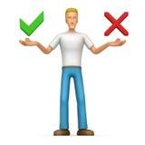 Beiläufiger Mann bietet eine Wahl von Optionen an Stockfotos