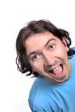 Beiläufiger Mann mit einem glücklichen Gesicht Stockbild