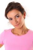 Beiläufiges Frauenlächeln Lizenzfreie Stockfotos