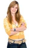 Beiläufiges Frauenportrait Lizenzfreies Stockfoto