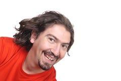 Beiläufiges glückliches Mannportrait stockfotografie