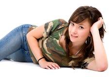 Beiläufiges Mädchenportrait Lizenzfreies Stockbild