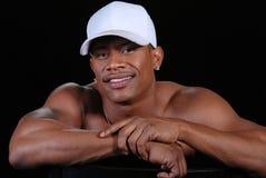 Beiläufiges Portrait eines schwarzen Mannes. stockbilder
