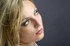 Beiläufiges weibliches Portrait Lizenzfreie Stockfotos