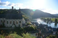 Beilstein Allemagne sur la rivière de la Moselle photos libres de droits