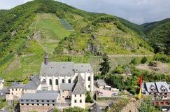 Beilstein le meilleur endroit sur la rivière de la Moselle (la Moselle) Image libre de droits
