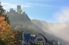 Beilstein najlepszy miejsce na Moselle rzece Mosel Palatinate, Niemcy fotografia royalty free