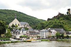 Beilstein stad och Metternich slott, Tyskland Fotografering för Bildbyråer