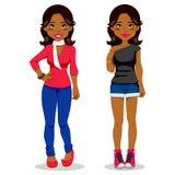 Beiläufiges schwarzes Mädchen Stockfoto