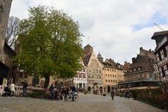 of Beim Tiergartnertor square in Nuremberg, Germany Stock Photos