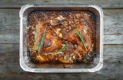 Bein, geschmackvoll, Rosmarin, Huhn, Geflügel, Abendessen, Mahlzeit, Braten, foo lizenzfreie stockbilder