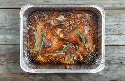 Bein, geschmackvoll, Rosmarin, Huhn, Geflügel, Abendessen, Mahlzeit, Braten, foo lizenzfreies stockbild