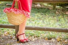 Beine der Frauenaufwartung Lizenzfreie Stockbilder