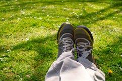 Beine in der Natur Stockbild