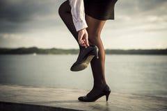 Beine und Strümpfe Lizenzfreie Stockbilder