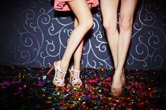 Beine von Tänzern Lizenzfreies Stockbild