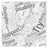 Being With An Adult Dyslexic word cloud concept  background Stock Photography