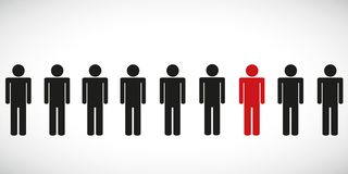 Being different move for success person pictogram stock illustration