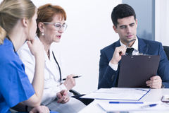 Being a doctor it's a hard work Stock Image