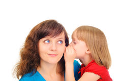 Being a friend with a child royalty free stock image