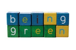 Being green Stock Image