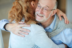 Being Happy and Loved at Old Age Royalty Free Stock Photography