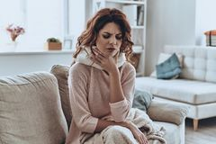 Being ill. Stock Image