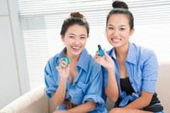 Being manicured Royalty Free Stock Image