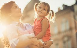 Being a mother is the most rewarding experience. royalty free stock images